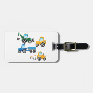 Multiple Tractors Bag Tag