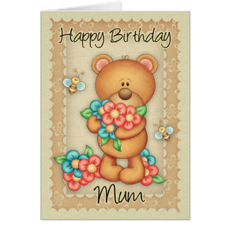 Mum Birthday Card With A Bunch Of Birthday Hugs -