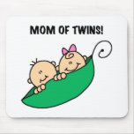 Mum of Twins-Peas in a Pod Tshirts and Gifts Mouse Pad