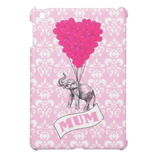 Mum with pink elephant case for the iPad mini