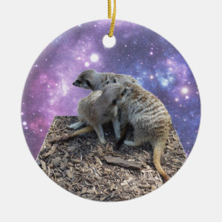 Mummy Meerkat And Pup, Christmas Ornament