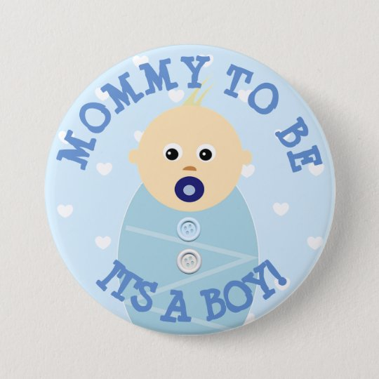 Mummy to be blue Baby Boy  Baby Shower Button