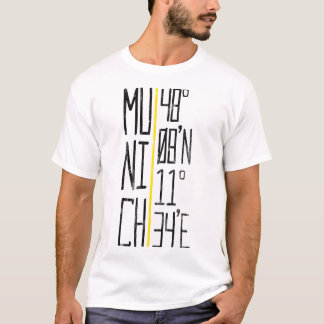 München Munich Coordinates Tee, Germany T-Shirt