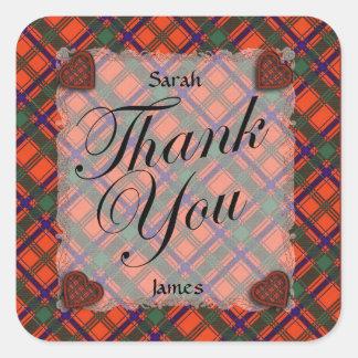 Munro Scottish clan tartan - Plaid Square Sticker