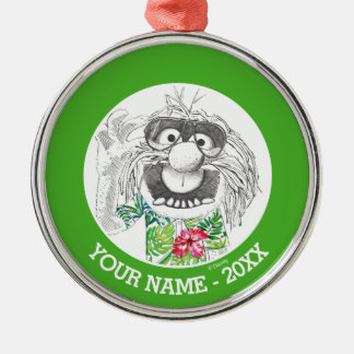Muppets   Animal In A Hawaiian Shirt Add Your Name Silver-Colored Round Decoration