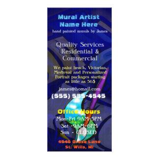 Mural Artist Graphic Design CUSTOMS BUSINESS Full Colour Rack Card