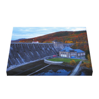 Mural Edersee concrete dam in the autumn Canvas Print