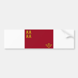 murcia region flag spain province bumper sticker