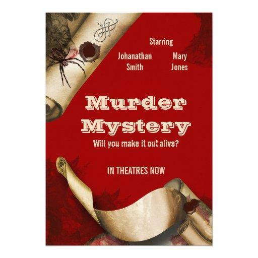 Murder investigation movie poster birthday card