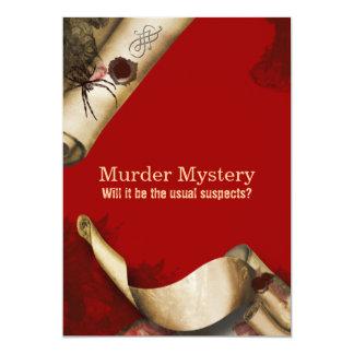 Murder investigation who dun it 13 cm x 18 cm invitation card
