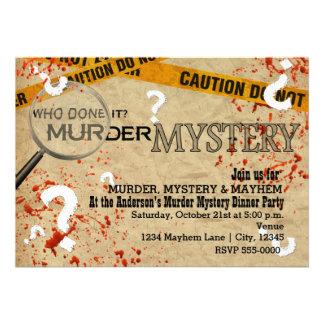 Murder Mystery Dinner Birthday Party Invitations