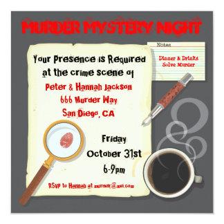 Murder Mystery Night Party Invitation