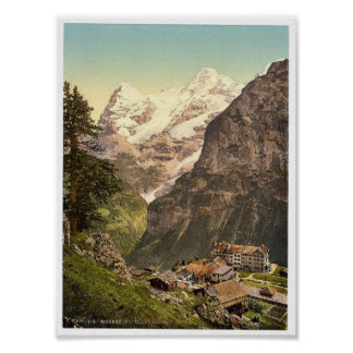 Murren, Hotel des Alps, Bernese Oberland, Switzerl Poster
