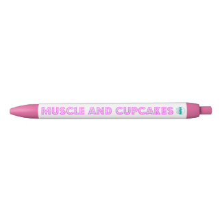 Muscle and Cupcakes PINK PEN