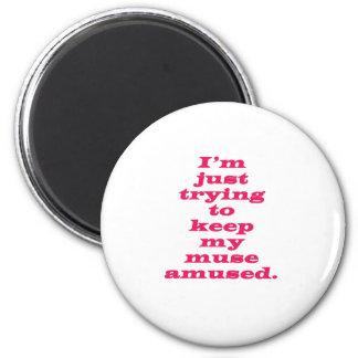 Muse Amused 6 Cm Round Magnet