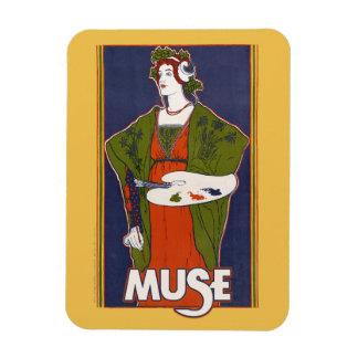 Muse artistic goddess rectangular photo magnet