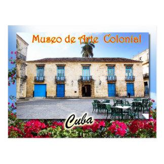 Museum of Colonial Art, Havana, Cuba Postcard