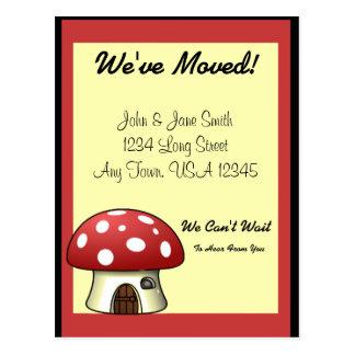 Mushroom Moving Announcement Postcard