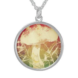 Mushroom Watercolor Necklace