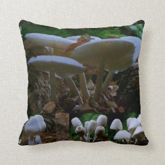 MUSHROOM : Wild Fungi Flowers ENJOY n SHARE JOY Cushion