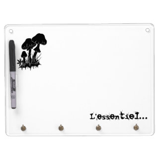 Mushrooms… Dry Erase Board With Key Ring Holder