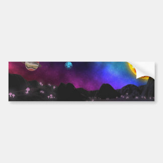 Mushrooms glowing on unknown planet bumper sticker