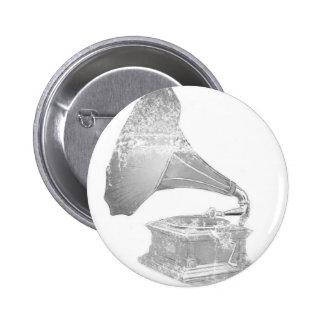 music 6 cm round badge