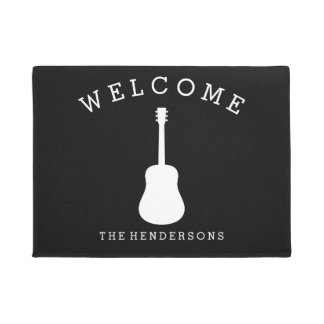 Music Acoustic Guitar Welcome Doormat