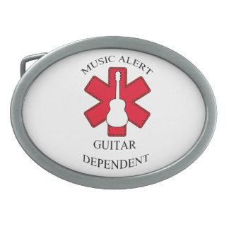 Music Alert Acoustic Guitar Belt Buckles