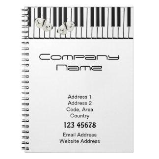 Music Business Theme Spiral Notebook