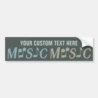 MUSIC custom bumpersticker Bumper Sticker