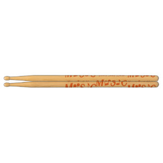 MUSIC custom monogram drum sticks