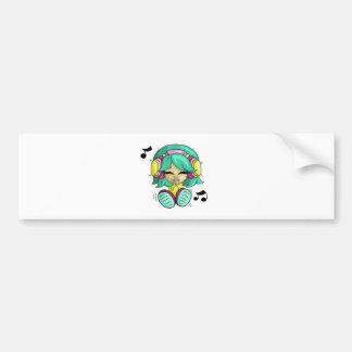 Music cutie bumper stickers
