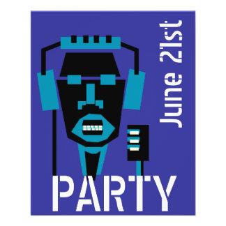 music , dance party template 11.5 cm x 14 cm flyer