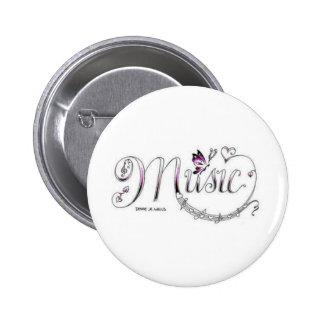 Music Design 6 Cm Round Badge