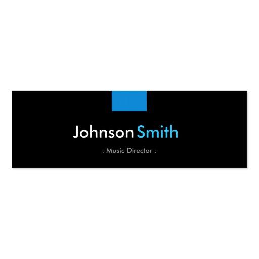 Music Director - Aqua Blue Compact Business Card Template
