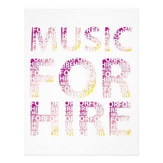 Music For Hire Club 21.5 Cm X 28 Cm Flyer