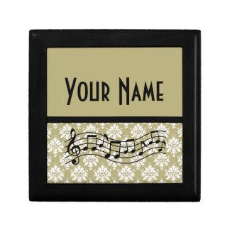 Music Gift Personalised Damask Design Gift Box