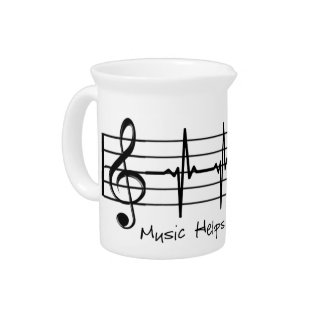 Music Helps Me Through Pitcher