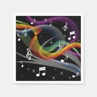 Music Illustration paper napkins