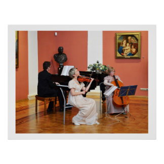 Music in grand hall, Russia Print