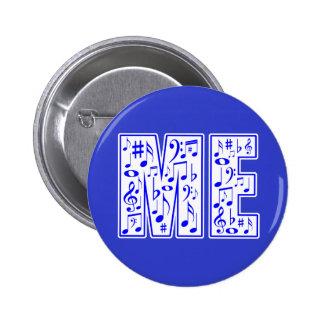 music in me 6 cm round badge