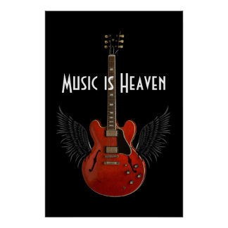 Music is Heaven 36 x 24 Poster