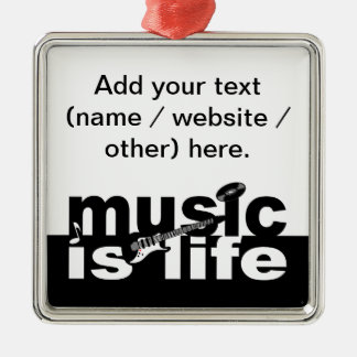 Music is life ornament - customize!