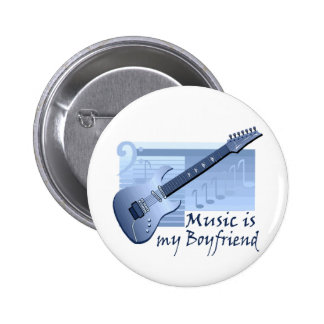 Music is my Boyfriend T-shirts and Gifts Pins