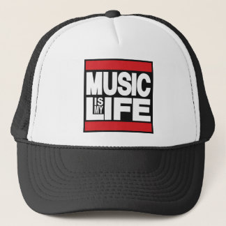 Music is my life Red Trucker Hat