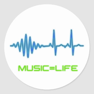 Music=Life Sticker