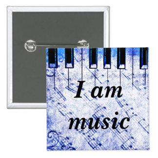Music Live_ 15 Cm Square Badge