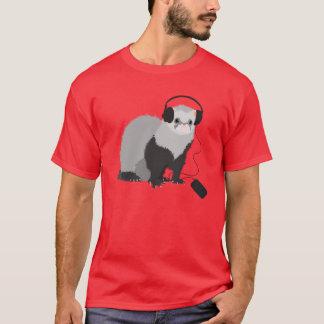 Music Lover Ferret Mens T-Shirt