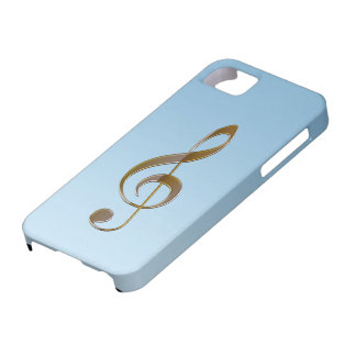 Music-lover s Gold Treble Clef iPhone 5 Case